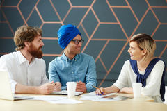 Meeting of co-workers Royalty Free Stock Photo