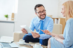 Meeting of co-workers royalty free stock photography