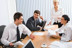 Meeting of colleagues royalty free stock image