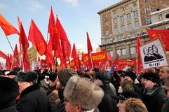 Meeting of communists in Moscow Royalty Free Stock Image
