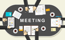 Meeting concept illustration. Discussion concept illustration. Stock Photos