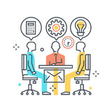 Meeting concept illustration, icon Royalty Free Stock Images