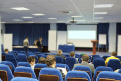 Meeting in a conference hall Stock Image
