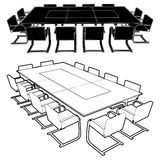 Meeting Conference Table Vector 01. Meeting Conference Table Illustration Vector Stock Images