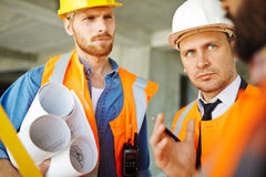 Meeting of constructors Royalty Free Stock Image
