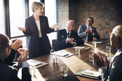 Meeting Corporate Success Brainstorming Teamwork Concept.  Royalty Free Stock Images