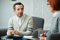 Meeting with counselor Royalty Free Stock Photos