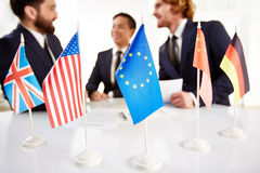Meeting of countries Stock Photo