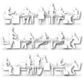 Meeting cutouts Royalty Free Stock Image