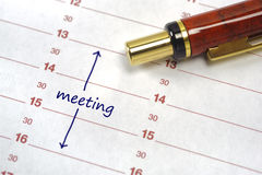 Meeting date Royalty Free Stock Photography