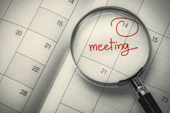 Meeting date Stock Photography