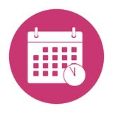 Meeting Deadlines icon Royalty Free Stock Images