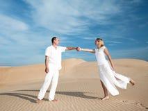 Meeting in desert Royalty Free Stock Photos