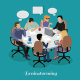 Meeting and Discussion Briefing stock illustration