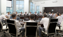Meeting and discussion briefing. Business meeting, conference Stock Photos