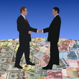 Meeting on dollars and euros Royalty Free Stock Images