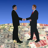 Meeting on dollars and yuan Stock Photo