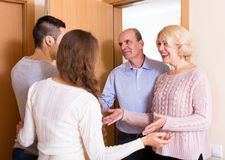 Meeting at the door Royalty Free Stock Images