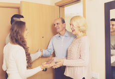 Meeting at the door Stock Image
