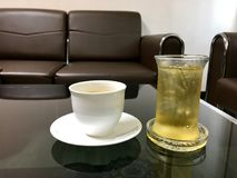 Meeting and drink. Coffee and tea break the meeting Royalty Free Stock Photography