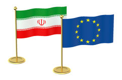 Meeting EU with Iran concept Royalty Free Stock Photography