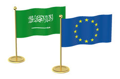 Meeting EU with Saudi Arabia concept Stock Photo