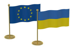 Meeting EU with Ukraine concept Stock Image