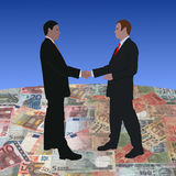 Meeting on euros and Rupee Stock Photo