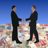 Meeting on euros and yuan Stock Photo