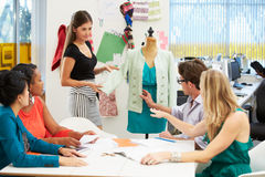 Meeting In Fashion Design Studio Royalty Free Stock Photography
