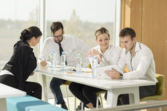On a meeting Royalty Free Stock Images