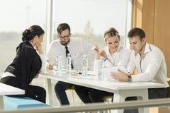 On a meeting Stock Photos