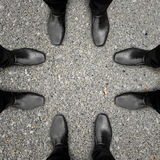Meeting of four businessmen Stock Image