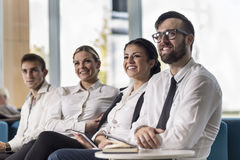 On a Meeting Royalty Free Stock Photo