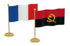 Meeting France with Angola concept Royalty Free Stock Photography