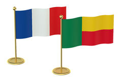 Meeting France with Benin concept Stock Photo