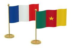 Meeting France with Cameroon concept Stock Photos