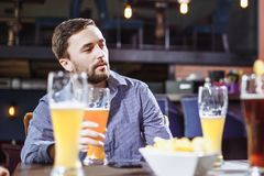 Meeting friends at the bar. royalty free stock photos