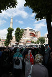 THE MEETING IN FRONT OF HAGIA SOPHIA, ISTANBUL. Royalty Free Stock Images