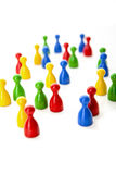Meeting of game figures Royalty Free Stock Image