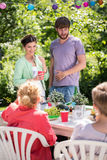 Meeting in the garden Royalty Free Stock Images