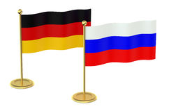 Meeting Germany with Russia concept Stock Photo