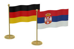 Meeting Germany with Serbia concept Stock Photos