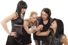 Meeting of girlfriends Stock Photos