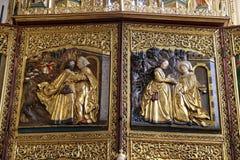 Meeting at the Golden Gate, Visitation of the Virgin Mary, Maria am Berg church in Hallstatt Stock Image