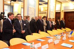 Meeting of heads of foreign affairs ministries Stock Images