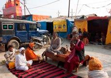 Meeting of the hindu gurus Royalty Free Stock Photo