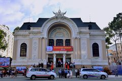 Meeting at Ho Chi Minh City Opera house, VietNam Royalty Free Stock Photography