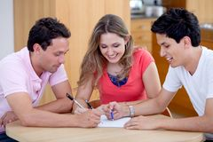 Meeting at home Royalty Free Stock Photo