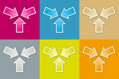 The meeting icon set. The collection of meeting arrows graphic element Stock Photos